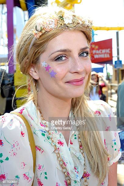Actress Mischa Barton attends the MakeAWish Foundation's Day of Fun hosted by Kevin Steffiana James held at Santa Monica Pier on March 14 2010 in...