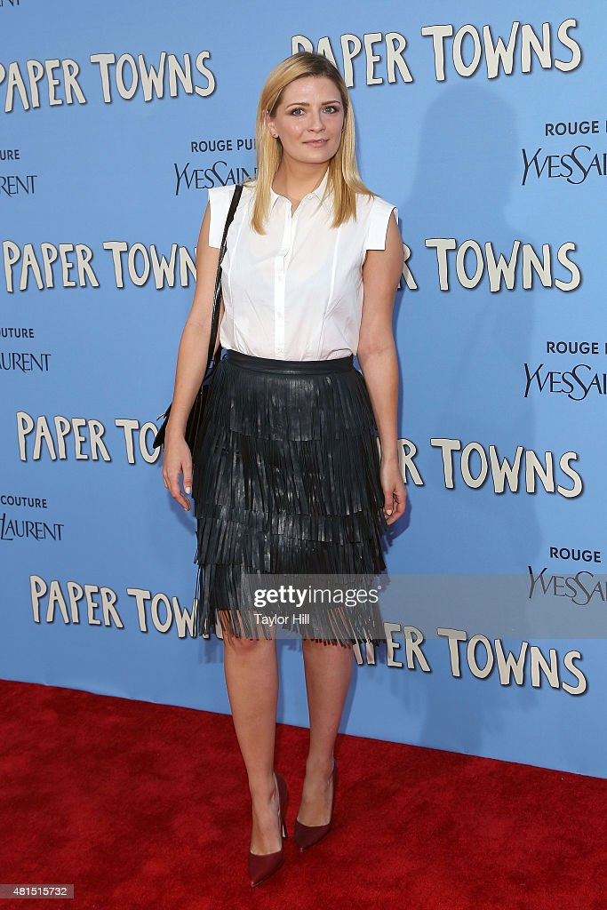 Actress Mischa Barton attends the New York City premiere of 'Paper Towns' at AMC Loews Lincoln Square on July 21, 2015 in New York City.
