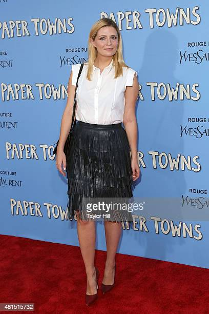 Actress Mischa Barton attends the New York City premiere of 'Paper Towns' at AMC Loews Lincoln Square on July 21 2015 in New York City