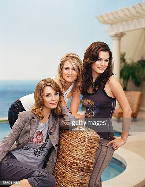 Actress Mischa Barton Kelly Rowan and Rachel Bilson of The OC are photographed for TV Guide Magazine in 2004 in Los Angeles California COVER IMAGE