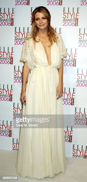Actress Mischa Barton poses backstage in the Awards Room at the ELLE Style Awards 2006 the fashion magazine's annual awards celebrating style at the...