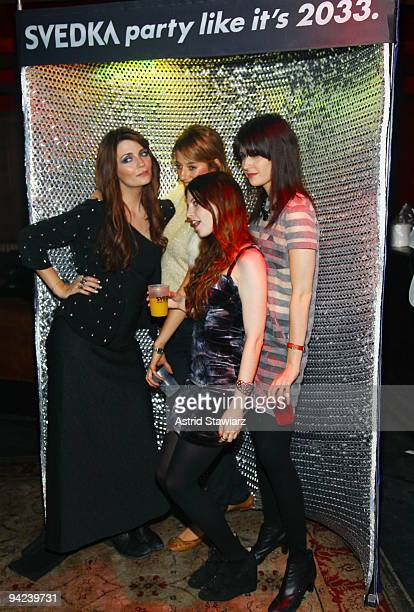 Actress Mischa Barton poses for photos with fans at the PAPER Magazine 5th Annual Nightlife Awards at M2 Ultra Lounge on December 9 2009 in New York...