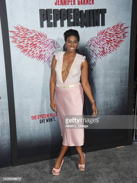 Actress Misha'el Elie arrives for the Premiere Of STX Entertainment's Peppermint held at Stadium 14 on August 28 2018 in Los Angeles California