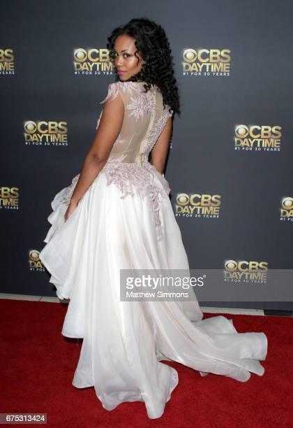 Actress Mishael Morgan attends the CBS Daytime Emmy after party at Pasadena Civic Auditorium on April 30 2017 in Pasadena California