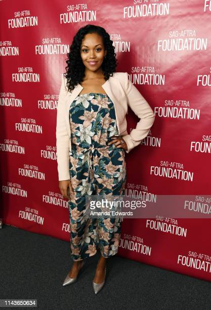 Actress Mishael Morgan attends the SAGAFTRA Foundation Conversations with Emmy Nominated daytime drama actresses at the SAGAFTRA Foundation Screening...