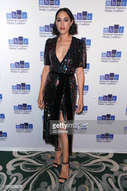 Actress Mishel Prada attends the 22nd Annual National Hispanic Media Coalition Impact Awards Gala at Regent Beverly Wilshire Hotel on February 22...