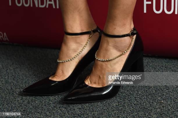 Actress Mishel Prada shoe detail attends the SAGAFTRA Foundation Conversations with VIDA at the SAGAFTRA Foundation Screening Room on November 25...