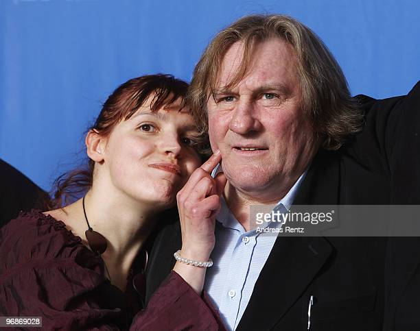Actress Miss Ming and actor Gerard Depardieu attend the 'Mammuth' Photocall during day nine of the 60th Berlin International Film Festival at the...