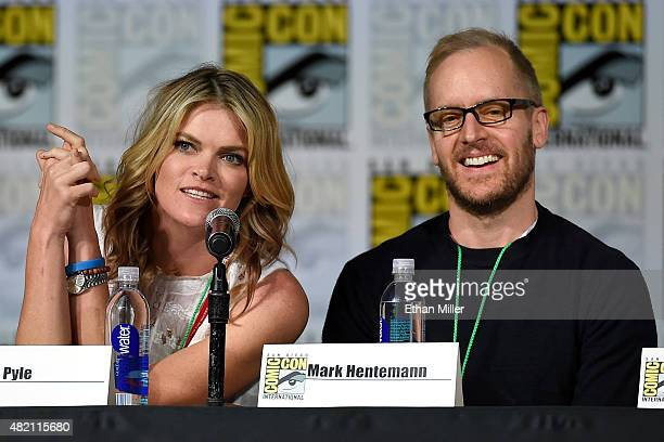 Actress Missi Pyle and producer/writer Mark Hentemann attend the Seth MacFarlane Animation Block panel during ComicCon International 2015 at the San...