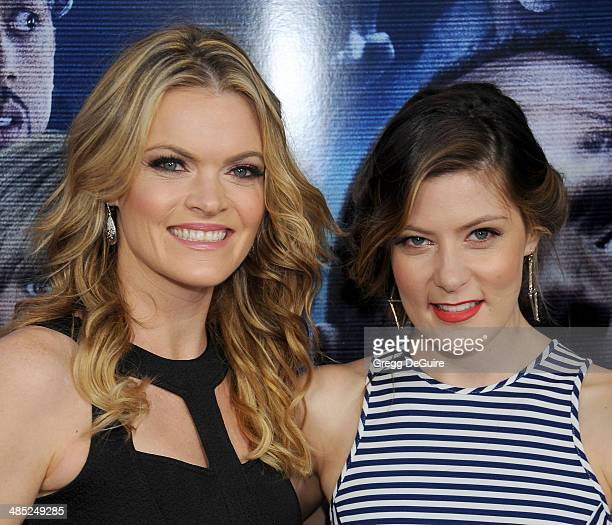 Actress Missi Pyle and sister Meredith Pyle arrive at the Los Angeles premiere of 'A Haunted House 2' at Regal Cinemas LA Live on April 16 2014 in...