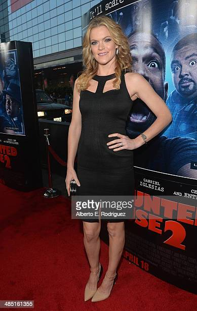 Actress Missi Pyle arrives to the premiere of Open Road Films' 'A Haunted House 2' at Regal Cinemas LA Live on April 16 2014 in Los Angeles California