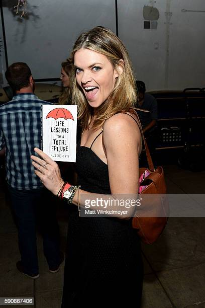 Actress Missi Pyle attends MJ Dougherty's 'Life Lessons from a Total Failure' book launch party at The Sandbox on August 16 2016 in Los Angeles...