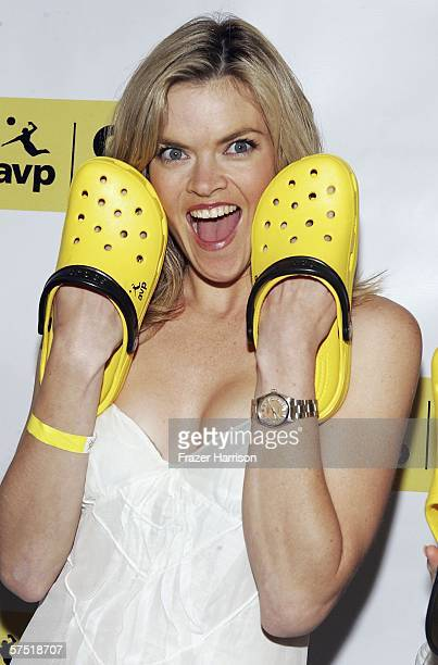 Actress Missi Pyle attends the AVP celebration party of the launch of the AVP Crocs Tour, held at the House of Blues on May 2, 2006 in...