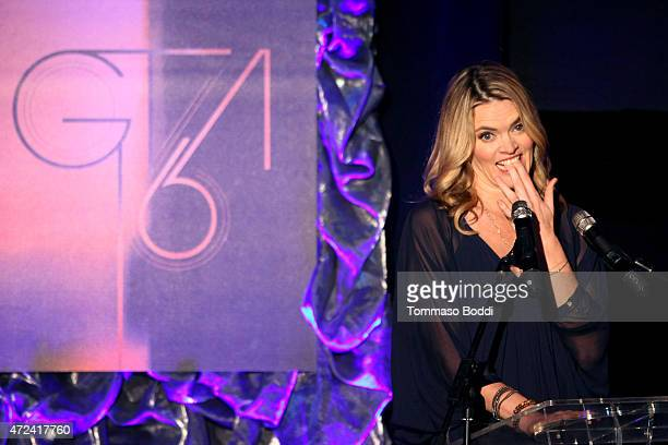 Actress Missi Pyle speaks on stage at the 16th annual Golden Trailer Awards held at Saban Theatre on May 6 2015 in Beverly Hills California