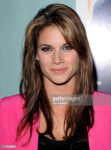 Actress Missy Peregrym arrives at the Los Angeles Premiere 'Love Wedding Marriage' at Pacific Design Center on May 17 2011 in West Hollywood...
