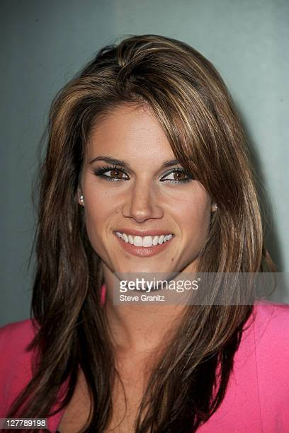 Actress Missy Peregrym arrives at the premiere of IFC Films' 'Love Wedding Marriage held at the Pacific Design Center on May 17 2011 in West...