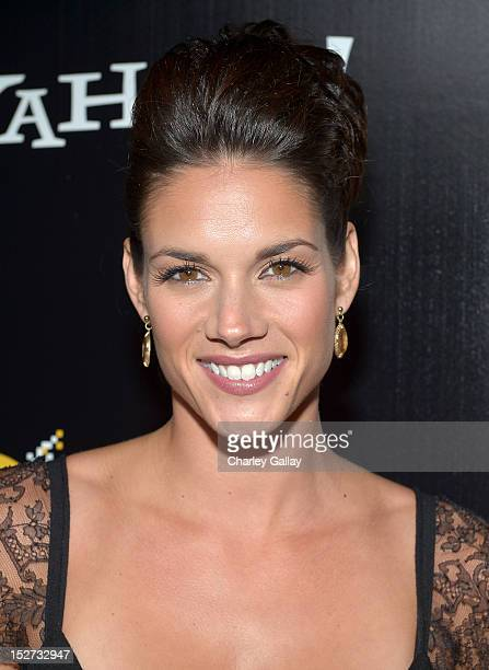 Actress Missy Peregrym attends the 'Cybergeddon' Premiere at Pacific Design Center on September 24 2012 in West Hollywood California