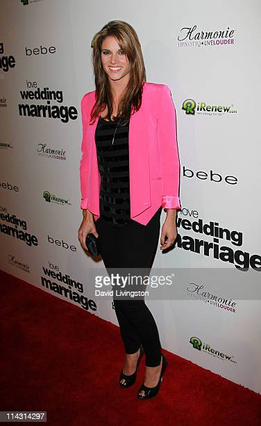 Actress Missy Peregrym attends the premiere of IFC Films' 'Love Wedding Marriage' at the Pacific Design Center on May 17 2011 in Los Angeles...