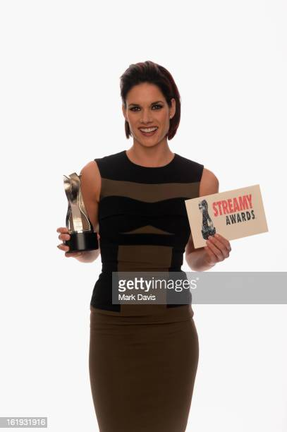 Actress Missy Peregrym poses for a portrait in the TV Guide Portrait Studio at the 3rd Annual Streamy Awards at Hollywood Palladium on February 17...