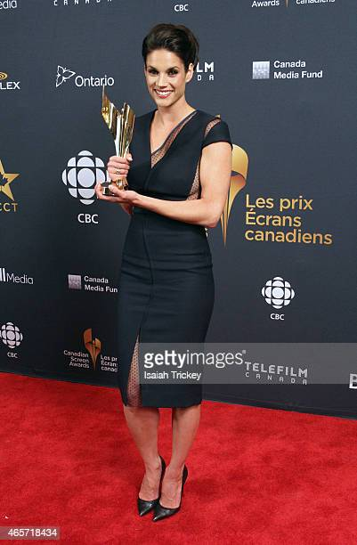 Actress Missy Peregrym poses in the press room at the 2015 Canadian Screen Awards at the Four Seasons Centre for the Performing Arts on March 1 2015...