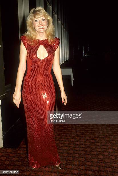 Actress Misty Rowe attends National Academy of Theatre Owners' 21st Annual Your Choice for the Film Awards on March 1 1986 at Cocoanut Grove...