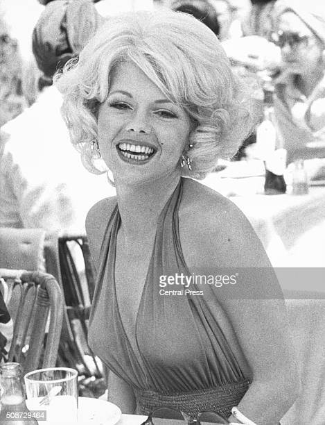 Actress Misty Rowe in costume as starlet Marilyn Monroe as she appears in the film 'Goodbye Norma Jean' December 7th 1978