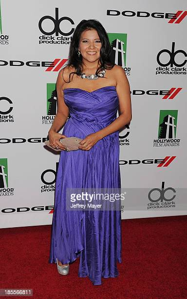 Actress Misty Upham arrives at the 17th Annual Hollywood Film Awards at The Beverly Hilton Hotel on October 21 2013 in Beverly Hills California
