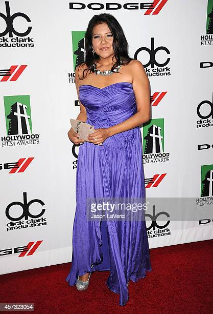 Actress Misty Upham attends the 17th annual Hollywood Film Awards at The Beverly Hilton Hotel on October 21 2013 in Beverly Hills California