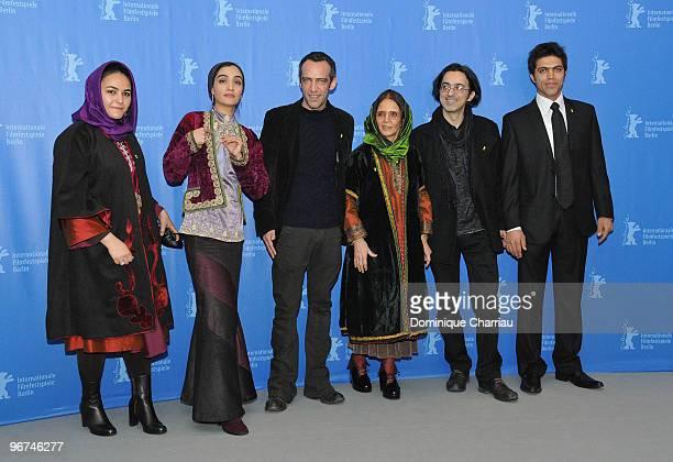 Actress Mitra Hajjar director Rafi Pitts producer Thanassis Karathanos production designer Malekjahan Khazaei and actor Hassan Ghal'e Noui attend the...