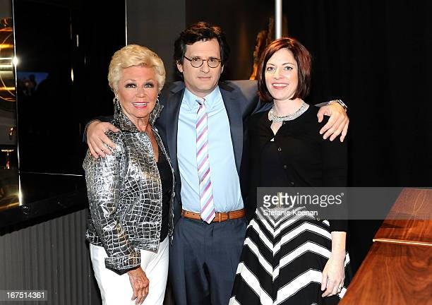 Actress Mitzi Gaynor host Ben Mankiewicz and managing director of TCM Festival Genevieve McGillicuddy attend the South Pacific screening during 2013...