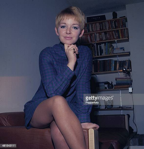 Actress Mitzi Rogers posed wearing a minidress in 1968.