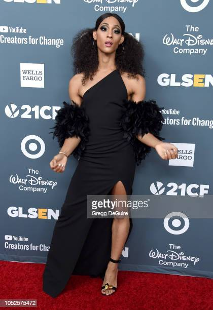 Actress Mj Rodriguez arrives at the GLSEN Respect Awards at the Beverly Wilshire Four Seasons Hotel on October 19 2018 in Beverly Hills California