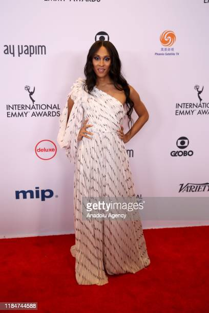 US actress Mj Rodriguez arrives for the 47th Annual International Emmy Awards at New York Hilton on November 25 2019 in New York City