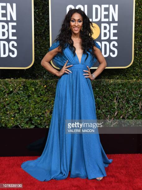 US actress Mj Rodriguez arrives for the 76th annual Golden Globe Awards on January 6 at the Beverly Hilton hotel in Beverly Hills California