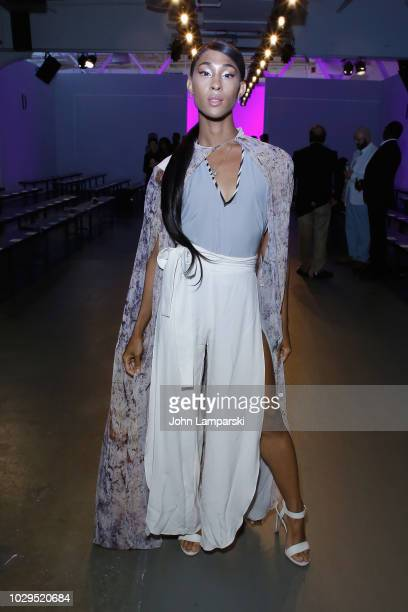 Actress Mj Rodriguez attends the Global Fashion Collective II Front Row during New York Fashion Week The Shows on September 8 2018 in New York City