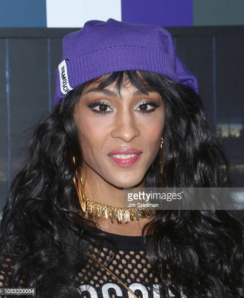 Actress Mj Rodriguez attends the Moschino x HM show at Pier 36 on October 24 2018 in New York City