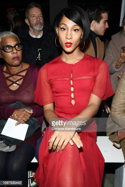 Actress Mj Rodriguez attends the Prabal Gurung front row during New York Fashion Week The Shows at Gallery I at Spring Studios on February 10 2019 in...