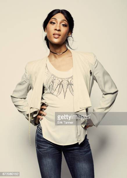 Actress MJ Rodriguez from 'Saturday Church' poses at the 2017 Tribeca Film Festival portrait studio on April 23 2017 in New York City