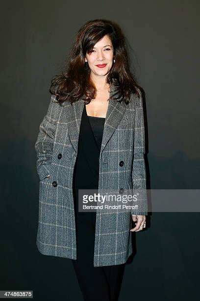 Actress Mélanie Doutey attends the ETAM show as part of the Paris Fashion Week Womenswear Fall/Winter 20142015 on February 25 2014 in Paris France