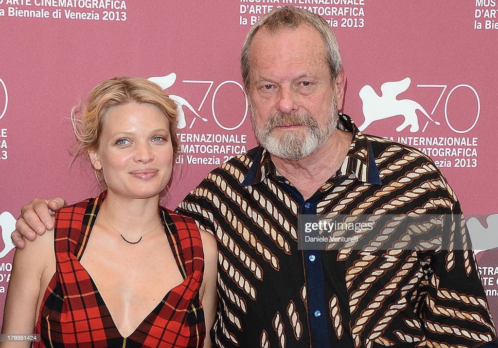 Actress Mélanie Thierry and Director Terry Gilliam attend 'The Zero Theorem' Photocall during the 70th Venice International Film Festival at Palazzo del Casino on September 2, 2013 in Venice, Italy.