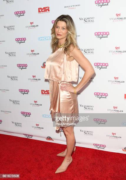 Actress / Model Amber Smith attends the 3rd annual Babes In Toyland pet edition at Boulevard3 on March 30 2017 in Hollywood California