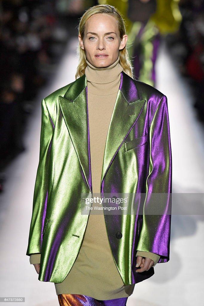d5788e6d2a Actress  model Amber Valetta walks in the Dries Van Noten Fall Winter 2017  collection