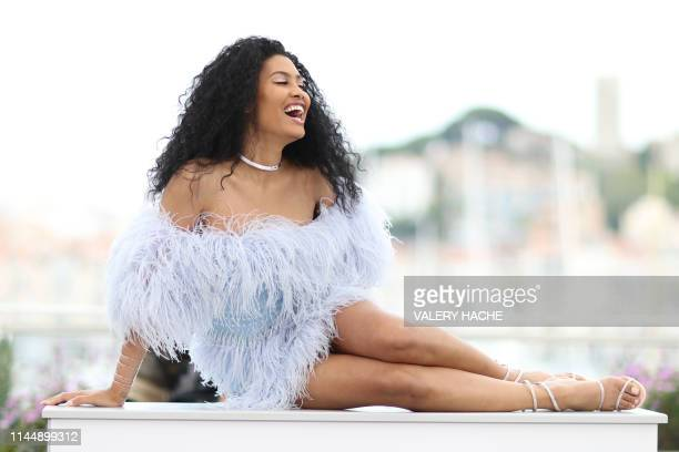 US actress model and transgender activist Leyna Bloom poses during a photocall for the film Port Authority at the 72nd edition of the Cannes Film...