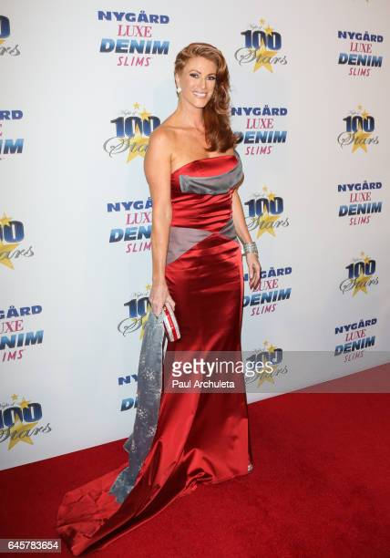 Actress / Model Angie Everhardt attends the 27th annual 'Night Of 100 Stars' black tie dinner viewing gala at The Villa Aurora on February 26 2017 in...
