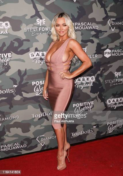 Actress / Model attends the 4th Annual Babes In Toyland Support Our Troops charity event at The Academy LA on July 24 2019 in Los Angeles California