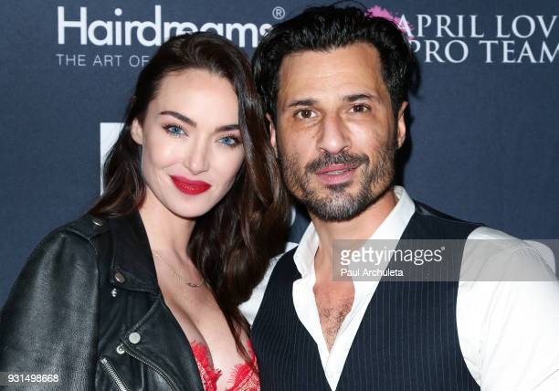 Actress / Model Cassi Colvin and Actor Hal Ozsan attend the Domingo Zapata Fashion Show at the Los Angeles Fashion Week 10th season anniversary at...