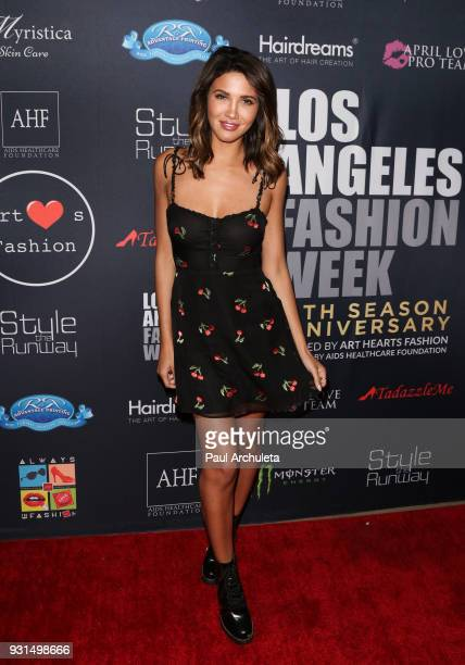 Actress / Model CJ Franco attends the Domingo Zapata Fashion Show at the Los Angeles Fashion Week 10th season anniversary at The MacArthur on March...