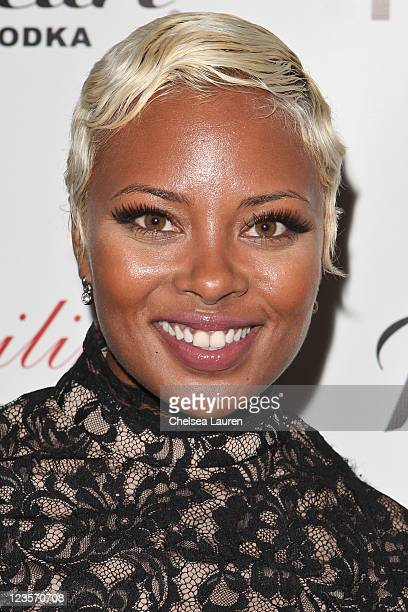 Actress / model Eva Marcille arrives at the Notifi Records Post GRAMMY party at Philippe Chow on February 13 2011 in Los Angeles California
