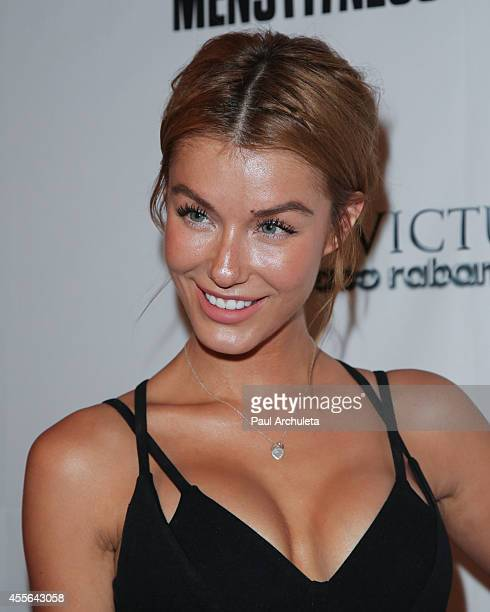 Actress / Model Jessica Vargas attends the Men's Fitness Magazine's celebration for the 2014 Game Changers issue at Palihouse on September 17 2014 in...
