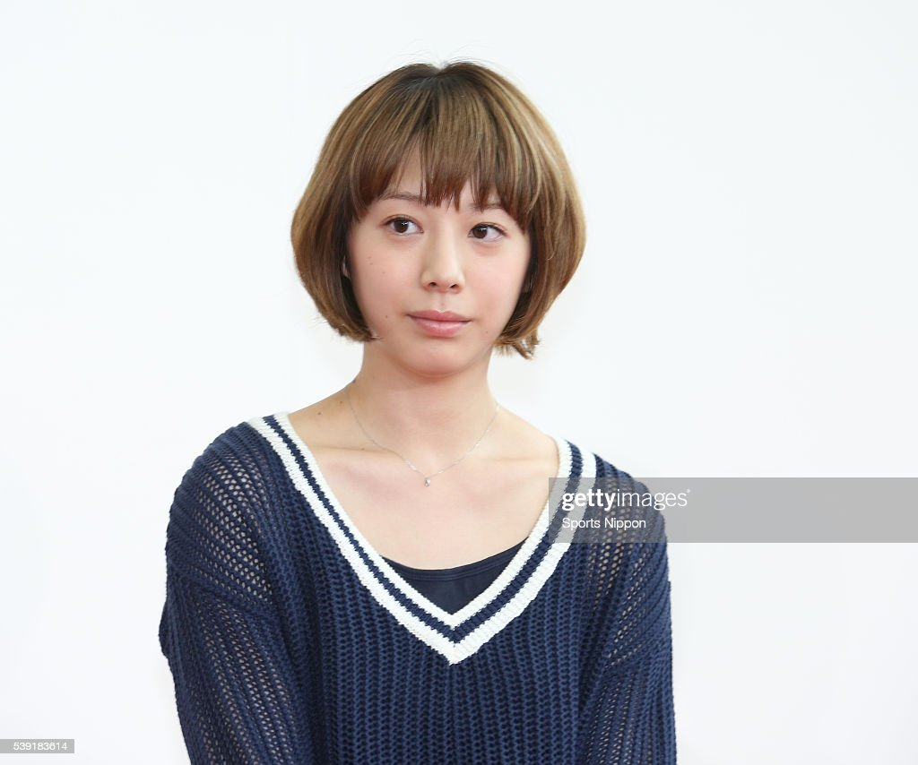 Actress / model Kaho attends Fuji TV program press conference on April 4, 2016 in Tokyo, Japan.